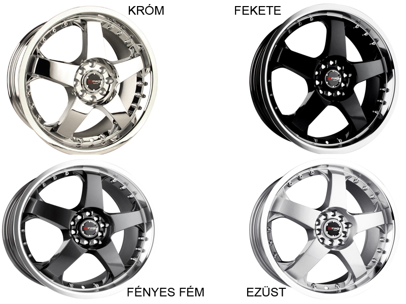 Drag Wheels DR-11 alufelni - 18X7.5 10H 45 GUN METAL