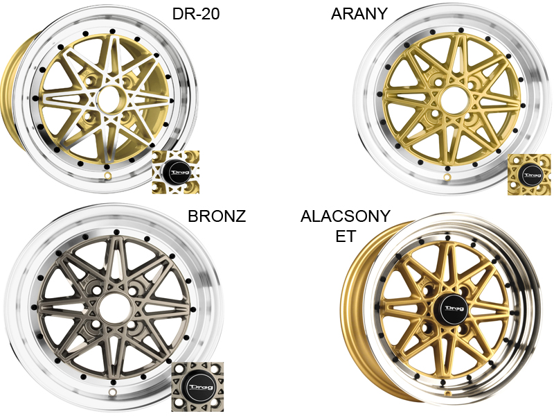 Drag Wheels DR-20 alufelni - 15X7 4/114.3 0 73 GLOSS